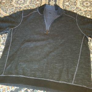 XXL Tommy Bahama reversible half-zip sweatshirt